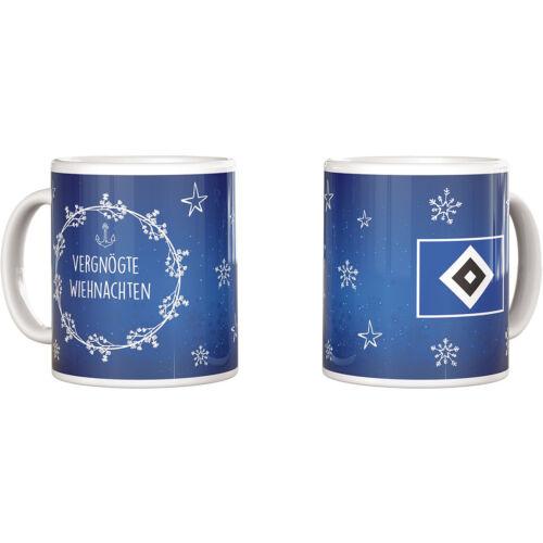 """HSV Kaffeebecher Tasse /""""Vergnögte Wiehnachten  Hamburger SV"""