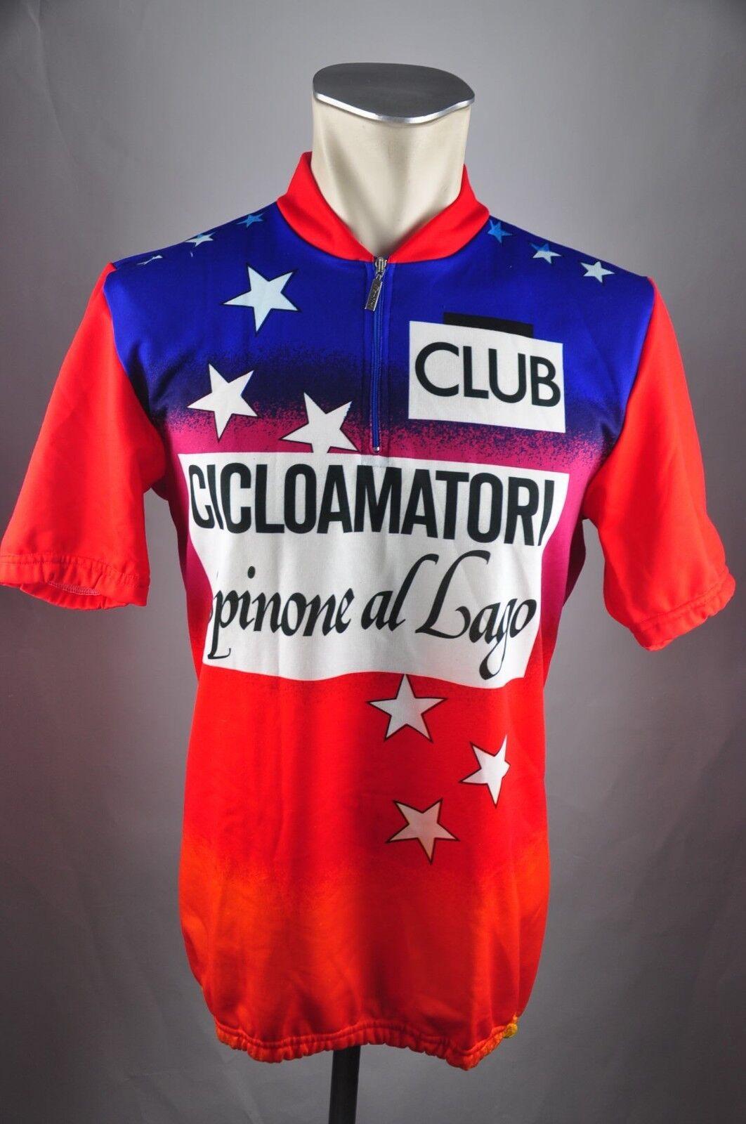 Cicloamatori Lago Santini Rad Trikot Gr. XL BW 55cm Bike cycling jersey FZ1