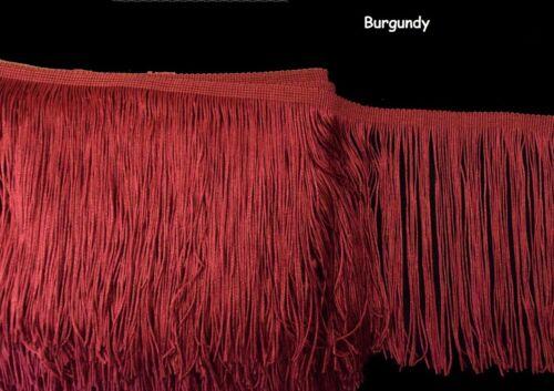 "costumes Tassel fringe Trim 15 cm 6/"" DROP meubles BU1314 Stade danse Robe"