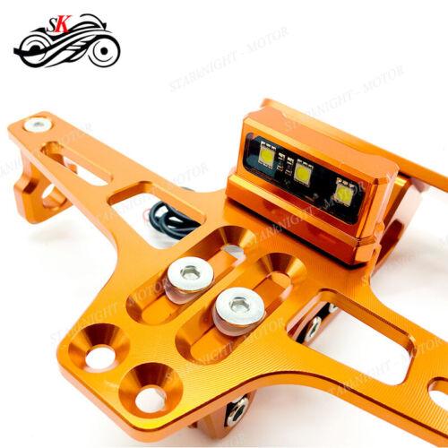 License Plate Hold Adjustable Fender Eliminator For YAMAHA MT07 FZ07 Tracer 700
