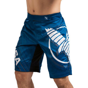 Hayabusa Chikara 4 Knee-Length MMA Fight Shorts - Blue