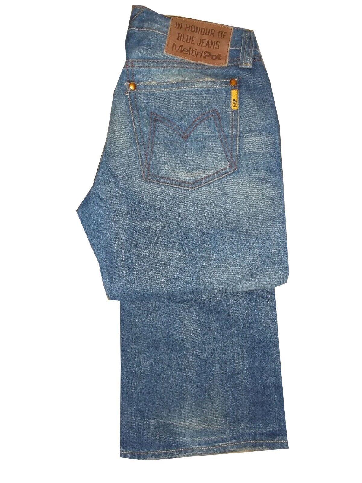 e3705430260b ... Jeans a zampa zampa zampa donna meltin pot nicole pantaloni denim vita  bassa avviocut w 25