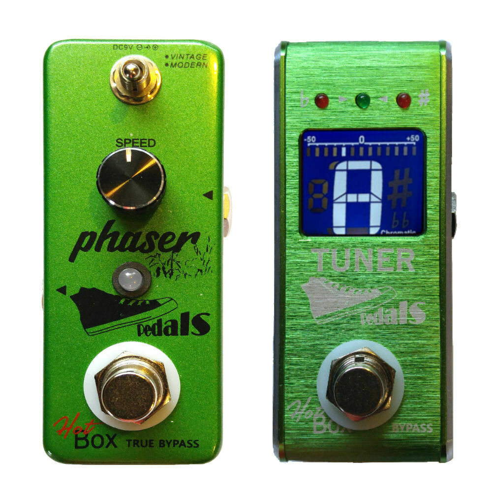 Hot Box Pedals Phaser Attitude Series + HB Tuner Micro Guitar Effect Pedal New