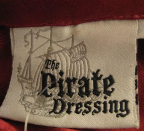 XXXL Men Women Pirate Shirt Medieval Renaissance Red Black Ruffle Satin S//M
