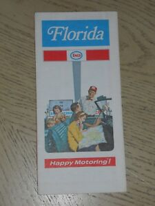Details about EX VINTAGE 1971 Enco Humble Oil Florida State Highway Road  Map Miami Palm Beach