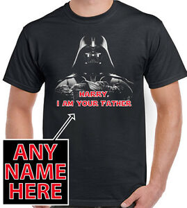 69a75d1c Personalised I Am Your Father Darth Vader Mens T-Shirt Star Wars ...