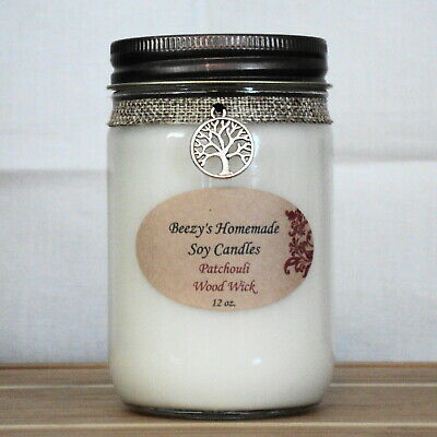 Beezy/'s Homemade Soy Candles Patchouli Natural Soy Wax White Melts//Tarts