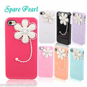 BLING-DELUX-WHITE-PINK-BLACK-FLOWER-DIAMANTE-SPARKLE-CASE-COVER-4-IPHONE-5-5S