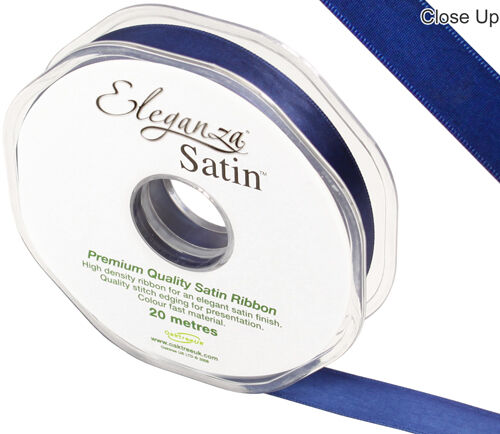 CHEAPEST ON Eleganza Double Faced Satin Ribbon 15mm x 20 Metres FREEPOST