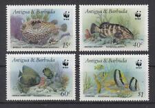 Antigua + Barbuda - Michel-Nr. 1010-1013 postfrisch/** (WWF - Fische / Fish)