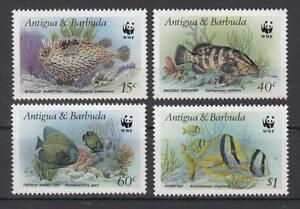 Antigua + Barbuda-michel-nº 1010-1013 Cachet/** (wwf-poissons/fish)-afficher Le Titre D'origine