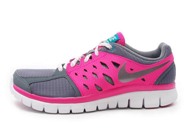 Nike Flex 2013 Schuhes Running (Gs) Grau/Pink Trainers Schuhes 2013 Größes:UK- 5_5.5 51d156