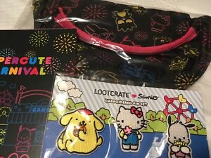 Hello Kitty Embroidered Pin Set of 3 Lootcrate Sanrio RARE!