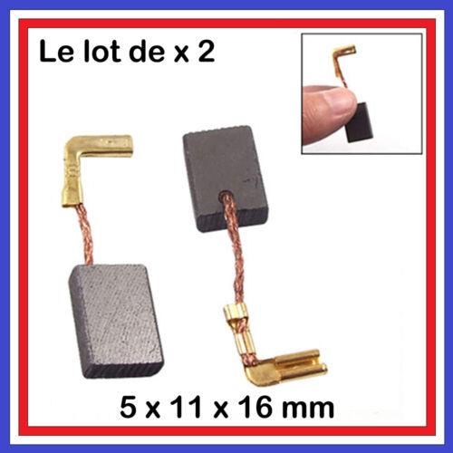 9554NB Lot  2 Balais de Charbon 5 x 11 x 16 mm Moteur perceuse Makita 9553NB