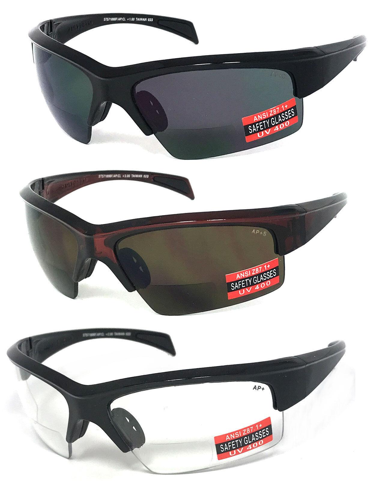 premium quality bifocal safety reading glasses sunglasses