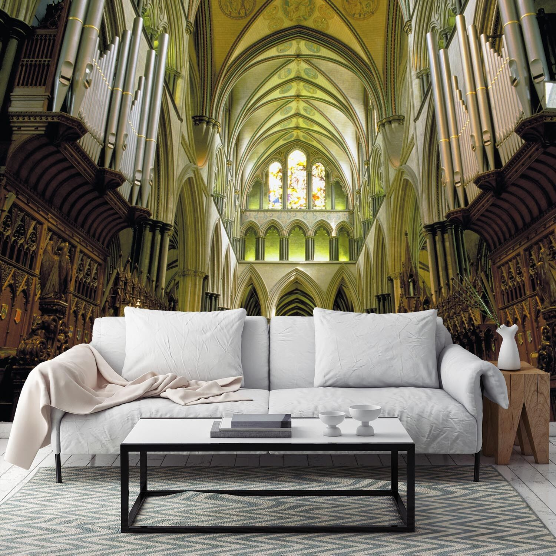 3D Eglise Saint 91 Photo Papier Peint en Autocollant Murale Plafond Chambre Art