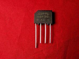 50pcs 3A 1000V KBP310 replace RS310 SEP BRIDGE RECTIFIER