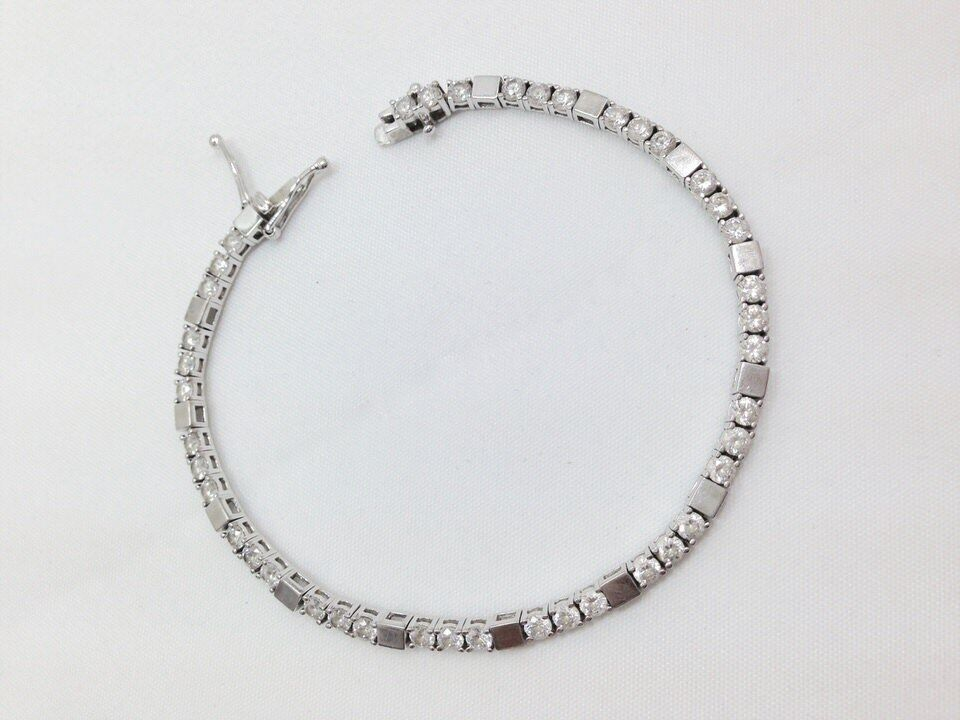 Modern 2ct Round Brilliant Cut Clear Cz Tennis Bracelet 7 5 8 In Sterling Sil...