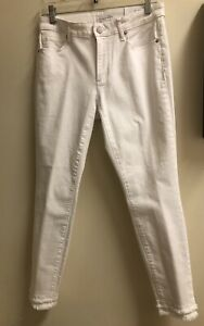 0f7325040e21 Image is loading Loft-Curvy-Double-Frayed-Skinny-Jeans