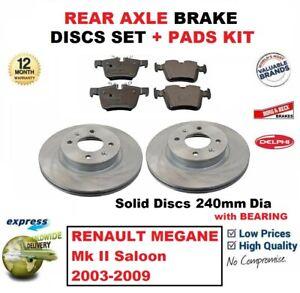 RENAULT MEGANE MK2 1.4 16V 2002-2008 FRONT AND REAR BRAKE DISC PADS NEW FULL SET