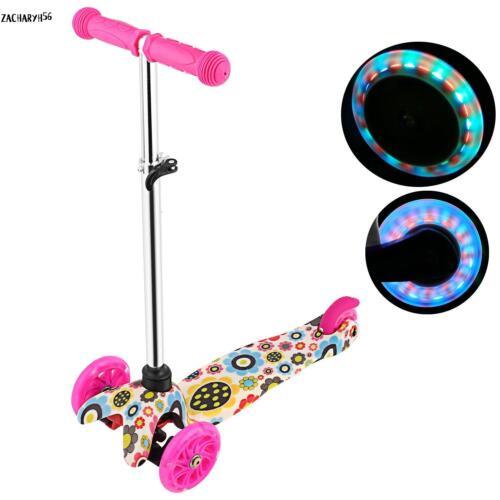 3-Rad Scooter Roller Kinderroller Alu Cityroller Tretroller Kickroller mit LED Cityroller & Kickboards