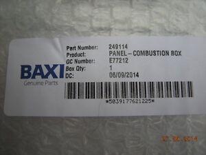Baxi Kombi 105E 105HE & Augenblick & Kessel Verbrennung Box vorne ...