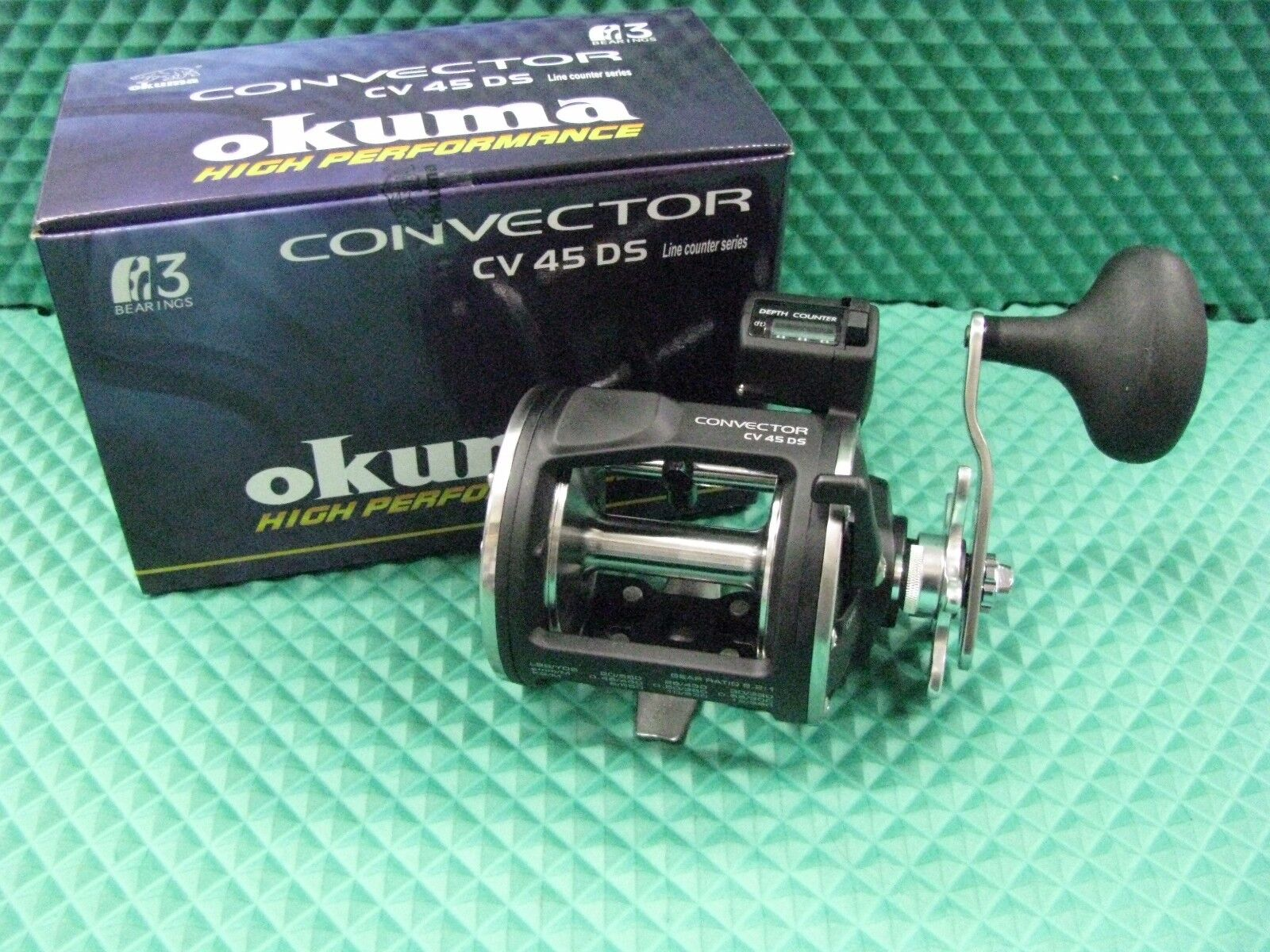 Okuma Convector CV 45DS HIGH SPEED 6.2 1  Line Counter Trolling Reel