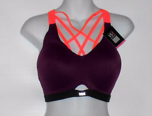 16b25438cc Victoria s Secret VSX Sport Lightweight Strappy Sport Bra Grape 36C ...