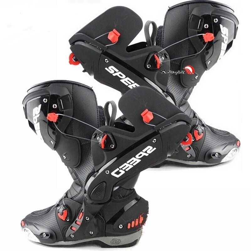 Upgrade Split Motorcycle Boots Racing Pro Speed Bike Leather Motocross shoes