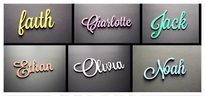 Details about Beautiful Script Font Kids Baby Name Wooden Sign Nursery  Bedroom 20 cm wide