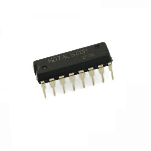 1 PCS 100/% original HITACHI 74LS48 DIP16 DIP-16 IC NEW