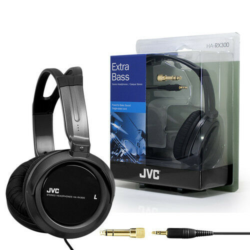 JVC HA-RX300 Black Full Size Over Head Extra Bass Headphones New