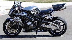 Flu Designs Honda Graffiti Sport Bike Graphic Kit Black//White CBR600RR 2004-06