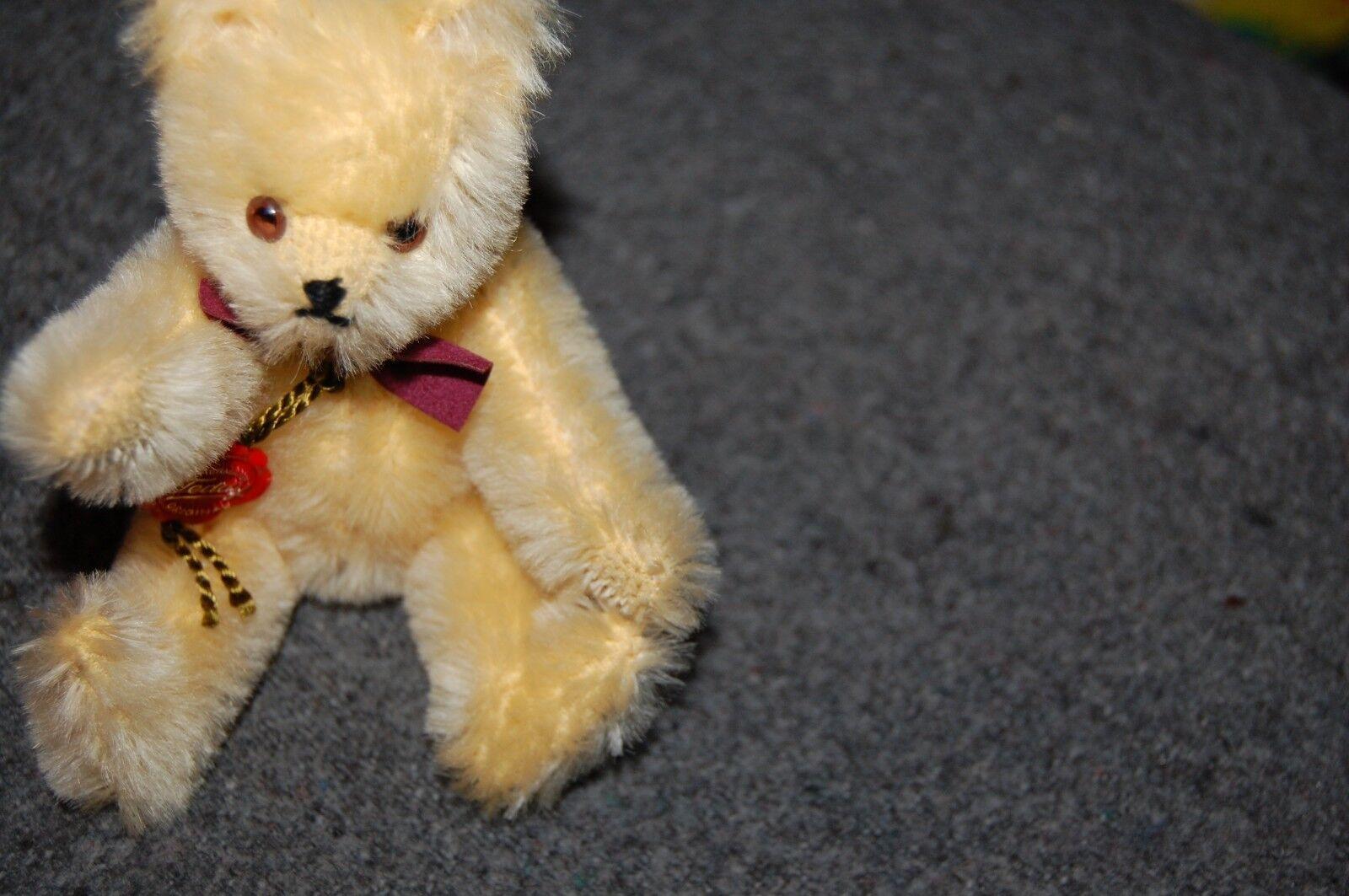 Hermann Teddy Original Hirschaid Blonde 15 cm Blonde Hirschaid Mohair 14ffe5