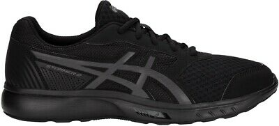 Asics Stormer Men/'s Running Shoes Fitness Gym Workout Trainers Black