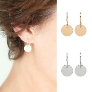 Gold-Silver-Disk-Round-Minimalist-Circle-Earrings-Blank-Ladies-Jewelry-Alloy-Pro