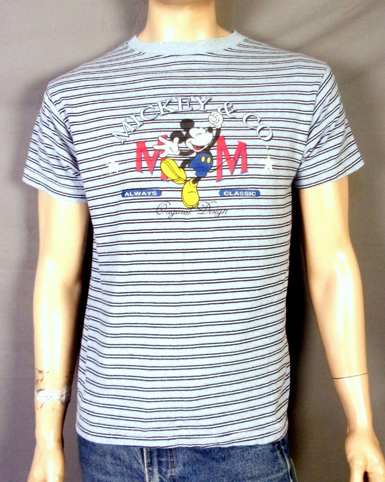 vtg 80s 90s Disney retro Striped Mickey Mouse Mickey & Co. T-Shirt Classic sz M