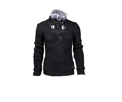 LCR Men/'s Fashion Slim Fit Knit Sweater Color Black//Smoke 5400