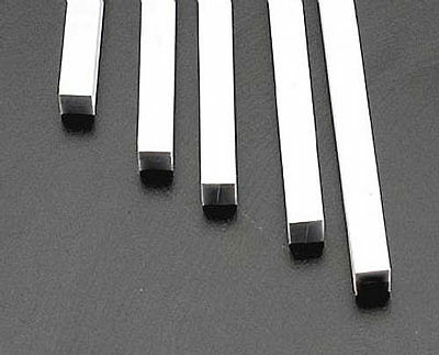 NEW Plastruct Square Rod Styrene 1/4x1/4x10  (5) 90810