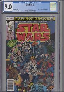 Star-Wars-2-CGC-9-0-1977-Marvel-Comic-First-Print-1-0-Variant-034-New-Hope-034