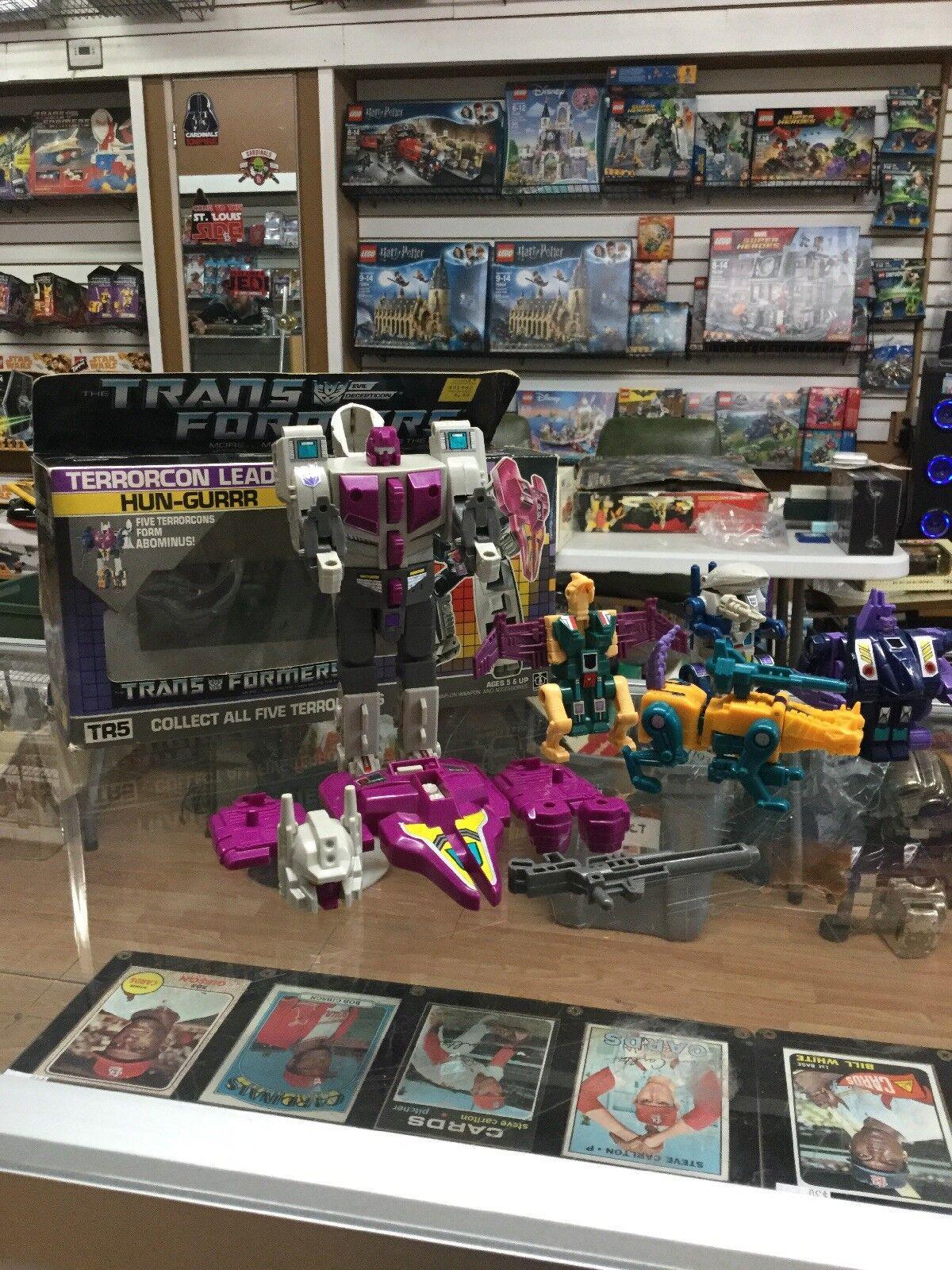 Transformers G1 Hun-gurrr (pour ABOMINUS) Boîte et 4  Terrorcons  économiser 35% - 70% de réduction