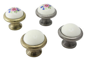 Moebelknoepfe-Schrankgriffe-Kuechengriffe-Schubladengriff-Porzellan-Keramik-Blume