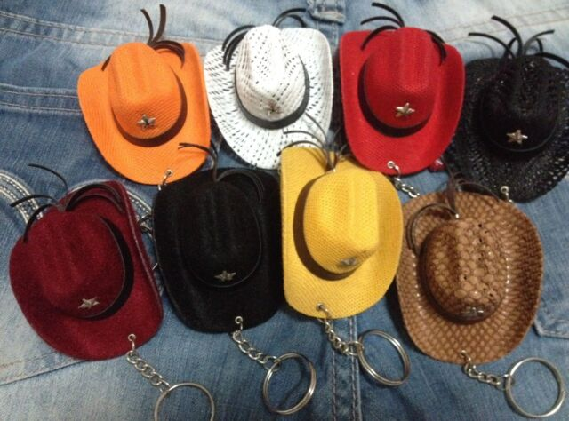 New Chic Cowboy Hat Key Ring Key Chain Keyring Western Style Gift