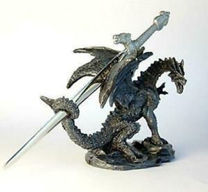 Letter Opener/Ornament/Figurine - Dragon with Sword