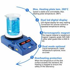 Led Digital Hotplate Magnetic Stirrer Mixer With Ceramic Coated Plate 100 1500 Rpm