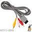 Nintendo-Wii-TV-Kabel-AV-Fernsehkabel-Chinch-3-RCA-Anschluss-fuer-Scart-Wii-U Indexbild 2