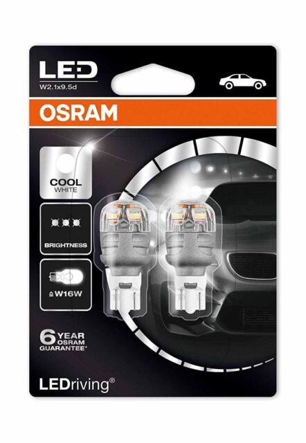 Osram Premium LED W16W 9213CW-02B Cool White Esterno Bulbi 6000K Duobox