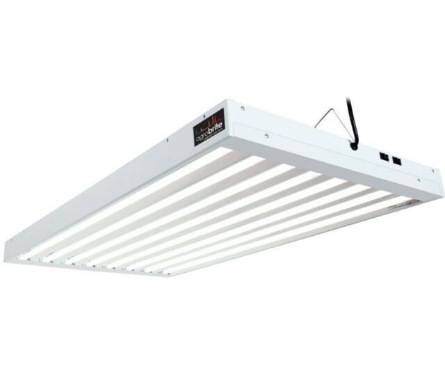 Agrobrite T5 432w 4 8 Grow Light Fixture W Fluorescent Lamps