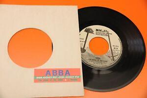 ABBA-THE-NAME-OF-THE-GAME-I-WONDER-7-034-PROMO-CON-STICKER-JUKE-BOX
