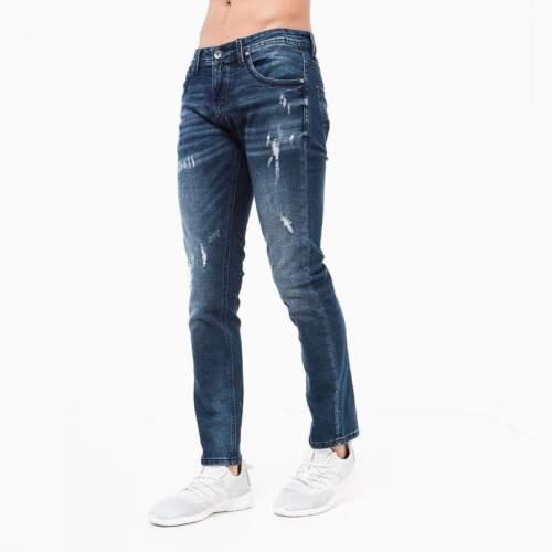 Crosshatch Da Uomo effetto strappato Verbena Jeans